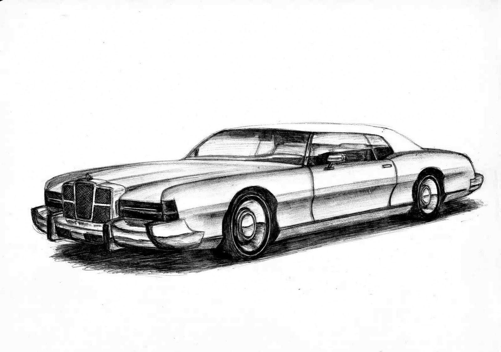 banzay wind sketch: Old Style Car Sketches