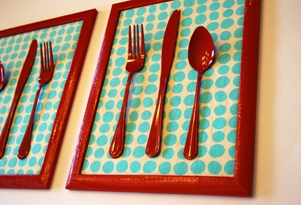 image tutorial diy quirky cutlery wall art kitchen art crap i've made