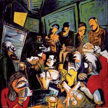 Futbol en el bar