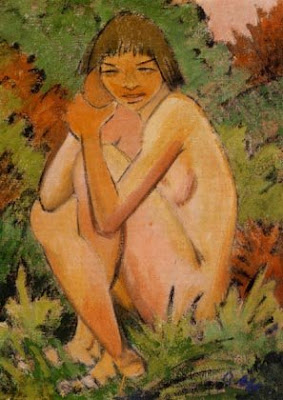Seated Nude in the Countryside