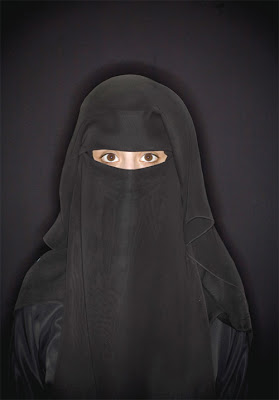 Strict Islamic Religion - Salam - 21 year old cute Yemen woman - covering - only showing eyes