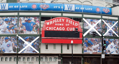 wrigley field banner