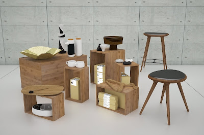 Fresh-ideas-for-work-place-in-building-room-with-small-table-stools-cabinets-and-products
