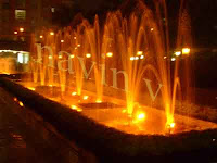 Tall fountain of Evershine park at Mumbai in India