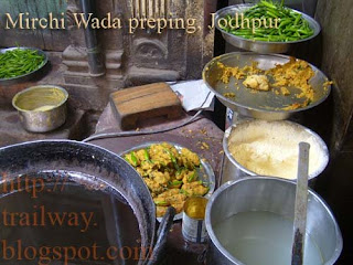 Mirchi Wada preparation of Jodhpur India