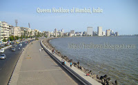 Queens Necklace at Marine Drive of Mumbai in India