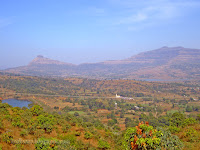 Valley view from Sai baba ashram at Haadshi near Pune in India