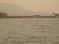 Panshet Dam inner wall near Pune in India