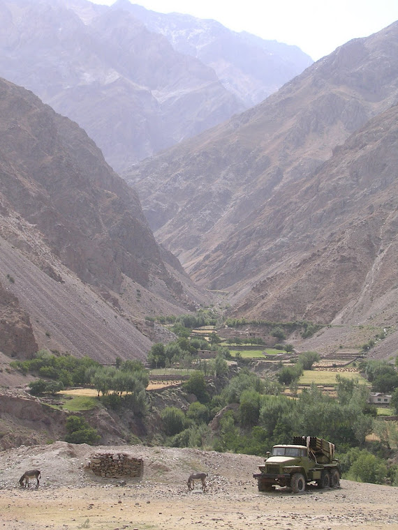 The destoryed Tank in Panjshir