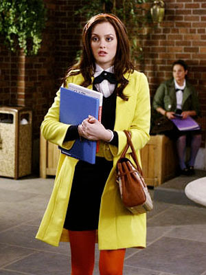 blair waldorf yellow coat