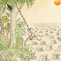 A derrubada de árvores da Amazônia