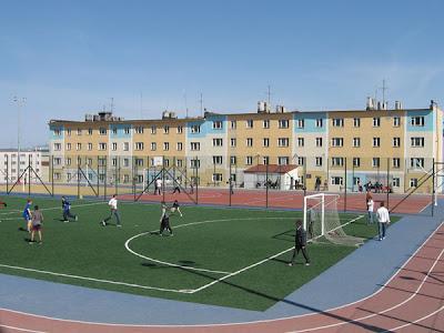 футбольный стадион в Анадыре