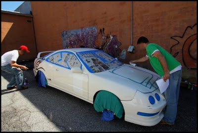 Making Car Graffiti - Step By Step Photos