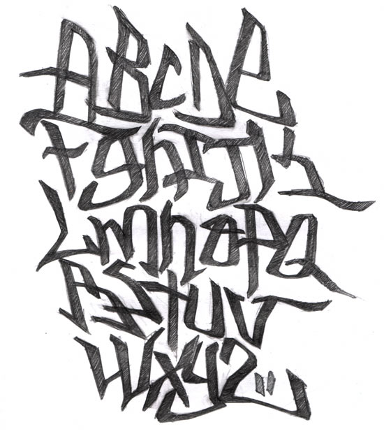 different styles of writing alphabet. graffiti writing styles