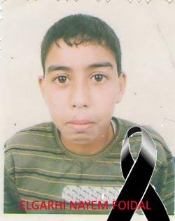 ELGARHI NAYEM FOIDAL MOHAMED SUEIDI, de 14 años