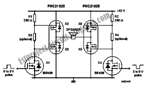 project circuit design  siren driver circuit based on mosfet