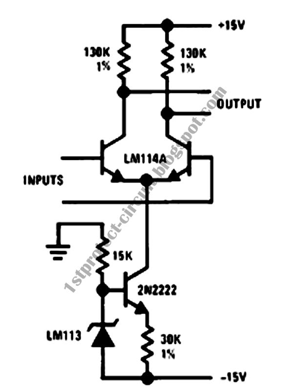 project circuit design  amplifier biasing circuit for