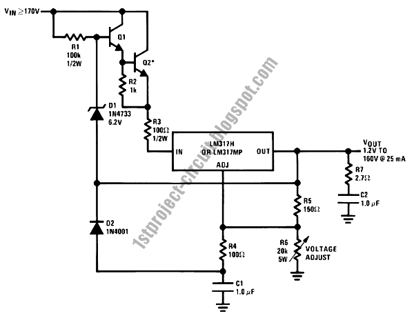 project circuit design  high voltage regulator power supply
