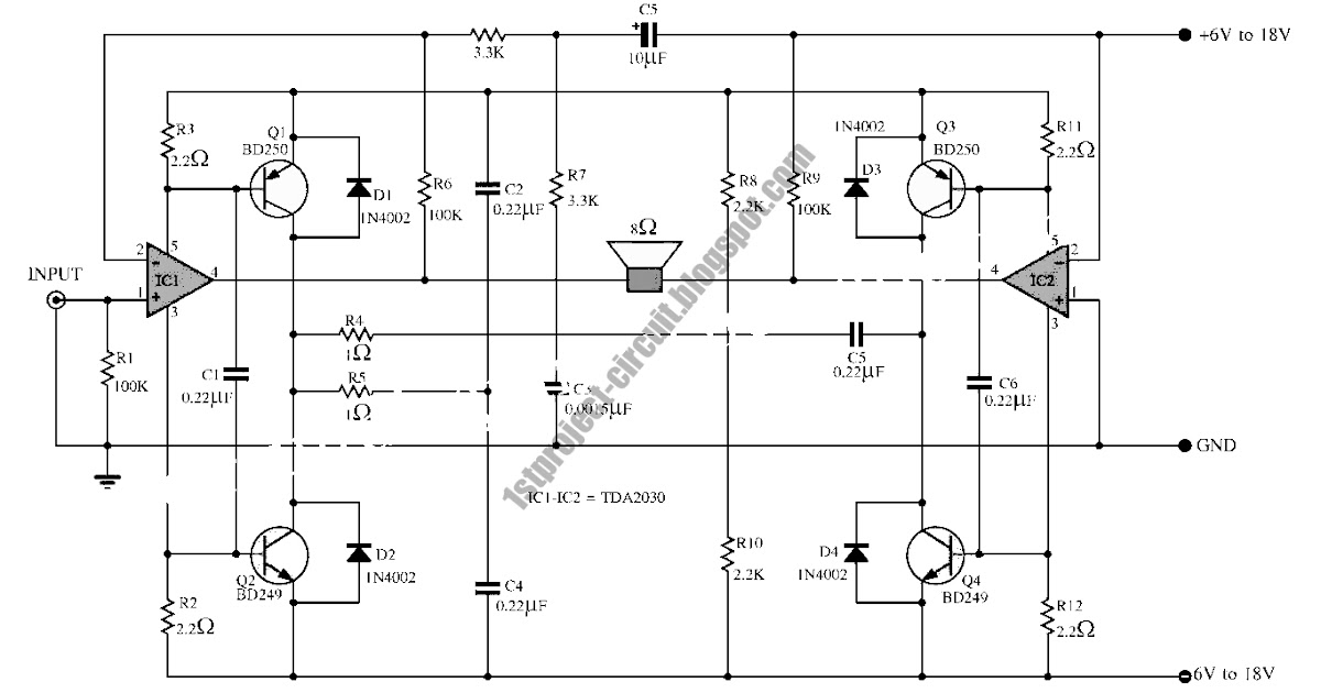 project circuit design  super bridge 120w power amplifier circuit