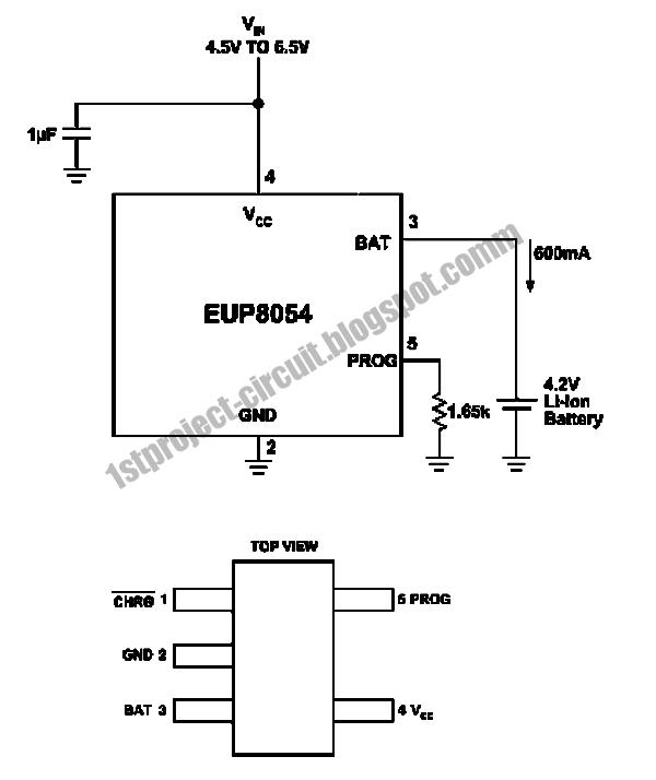 project circuit design  stand alone 600ma li