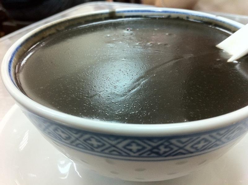 ... : Mei Heong Yuen Dessert - Black Sesame Paste and Green Tea Snow Ice