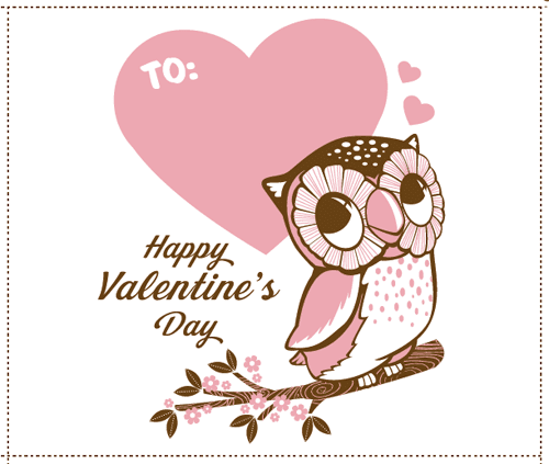cute hoots FREE Valentines Day Printables – Valentine Card to Print