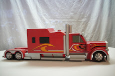 SEMI TRUCK CUSTOM RED