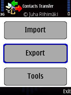 Contacts Transfer, Symbian phone book backup