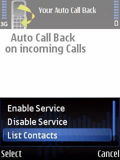 Auto Call Back: reduce call costs