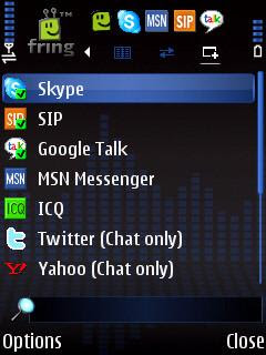 fring instant messaging, VoIP, chat, SIP, Skype, GMail