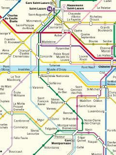 Mobile phone Paris bus subway underground metro map