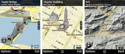 Nokia Maps Maps on Ovi, Navigation