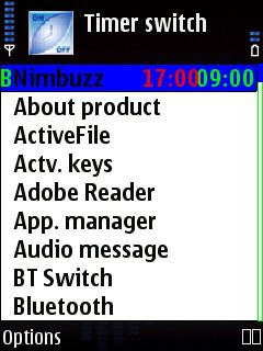 Timer switch program timer for Symbian phones