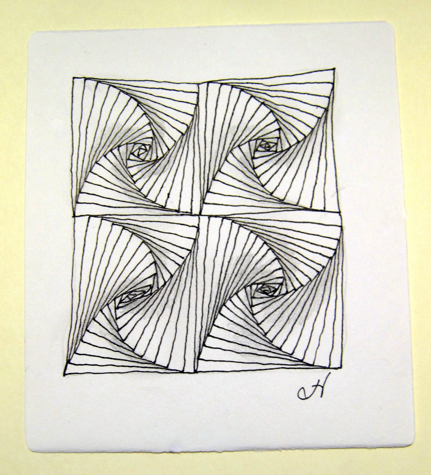 Easy Zentangle Patterns Step By Step | Black Models Picture