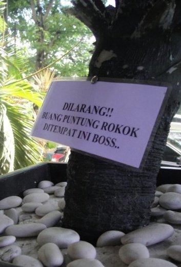 Dilarang+membuang+puntung+rokok