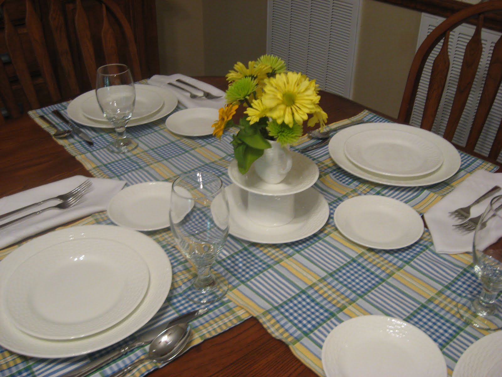 I then built a centerpiece using a salad plate tea cup placed upside down a bread plate and a creamer in my everyday pattern Wedgwood\u0027s Nantucket Basket. & Busy at Home: Waverly Valley Plaid \u0026 Nantucket Basket