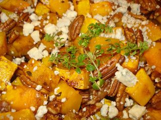 Mika's Pantry: Butternut Squash with Pecans and Blue Cheese