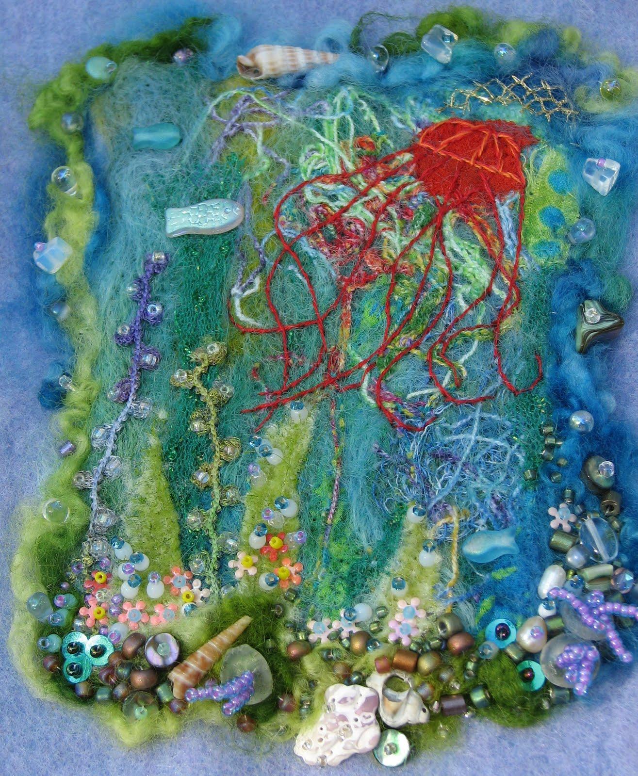 Elizabeth Creates Under Sea Fantasy With Wool Thread