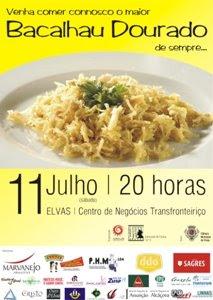 cartaz de bacalhau em Elvas