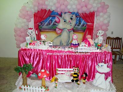 Artigos para festa infantil da Gata Marie! - Artigos para