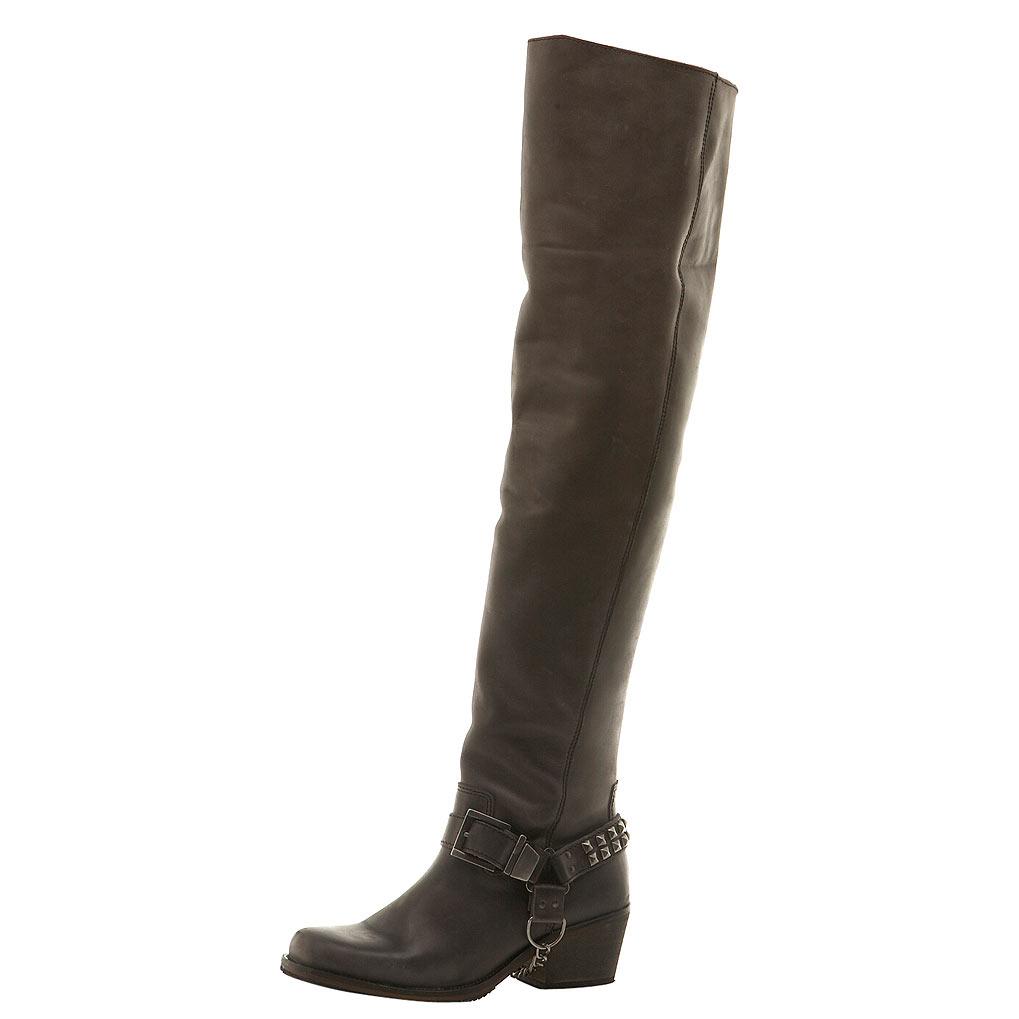 thigh high boots flat