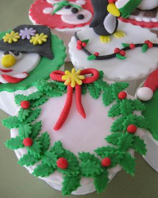 xmas cupcake