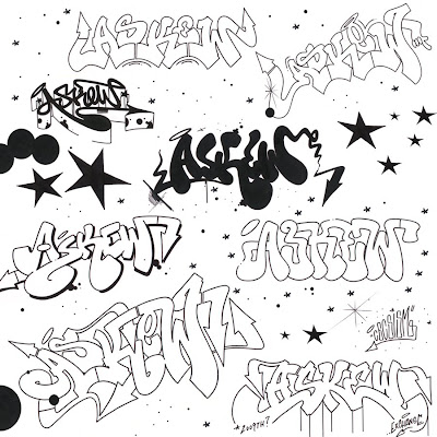 h letter in different style  Askew by Cecster