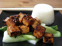 Sweet Ginger Tofu with Pak Choi and Jasmine Rice