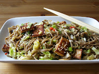 Pointed Cabbage and Soba Noodle Stir Fry with Tofu