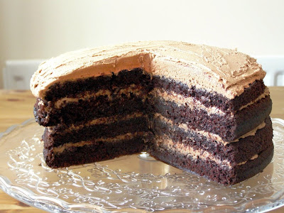 quadruple layer chocolate cake