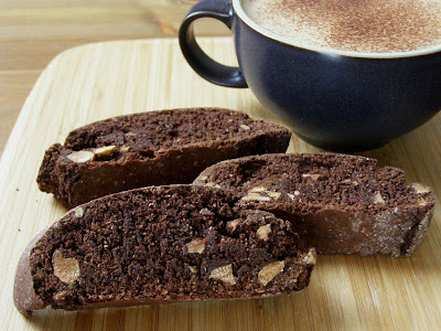 Vegan Wheat Free Chocolate Almond Biscotti