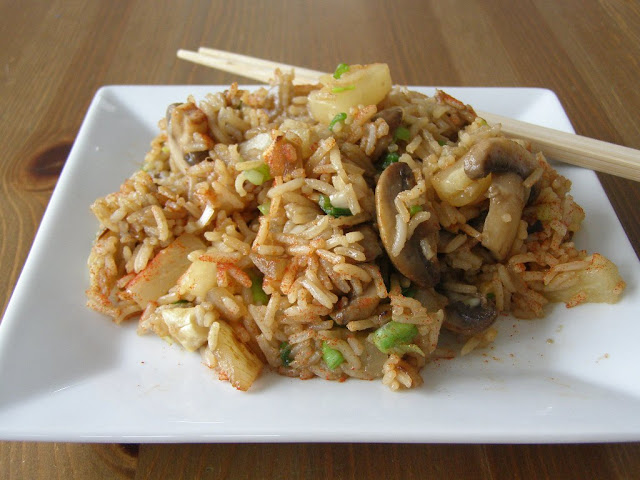 Pineapple and Mushroom Fried Rice