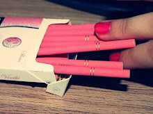 not smoking. but smoking pink cigarettes if i ever did