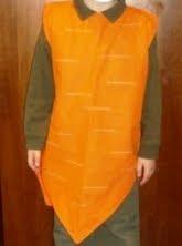 vestito da carota per carnevale